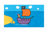 Didou - Louie and the Pirate Ship Prints by Yves Got