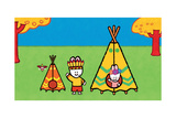 Didou - Louie the Red Indian Print by Yves Got
