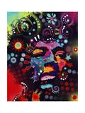 Jimi Hendrix Reproduction procédé giclée par Dean Russo