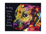 Gratitude Pitbull Giclee Print by Dean Russo
