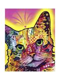 Tilt Cat Giclée-tryk af Dean Russo