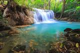 Deep Forest Waterfall in Kanchanaburi (Huay Mae Kamin), Thailand. Photographic Print by Jame Jones Jr