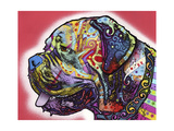 Profile Mastiff Giclee Print by Dean Russo