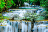 Huay Mae Khamin - Waterfall, Flowing Water, Paradise in Thailand. Prints by  ThaiWanderer