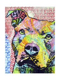 Thoughtful Pit Bull This Years Love 2013 Part 1 Giclee Print by Dean Russo