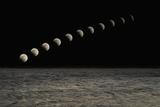 Time Lapse Moon Photographic Print