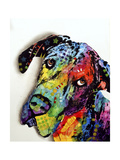 Tilted Dane Giclee Print by Dean Russo