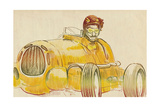 Car Driver - Racer Print by  KUCO