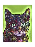 Watchful Cat Giclee-trykk av Dean Russo