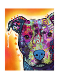 Heart U Pit Bull Giclee Print by Dean Russo