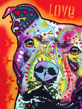 Thoughtful Pitbull Giclee Print by Dean Russo