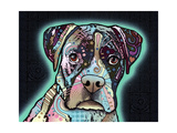 Love Thy Boxer Giclee Print by Dean Russo