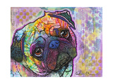 Pug Love Giclee Print by Dean Russo