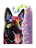German Shepherd Giclee Print by Dean Russo