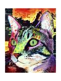 Curiosity Cat Giclée-trykk av Dean Russo