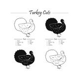 TURKEY MASCULINE CUTS SCHEME - B&W Prints by  ONiONAstudio