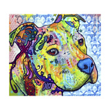 Thoughtful Pit Bull This Years Love 2013 Part 2 Giclee Print by Dean Russo