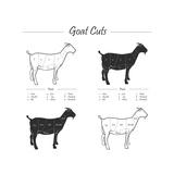 Goat Cut Scheme - B&W Posters by  ONiONAstudio