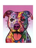 Cherish the Pitbull Giclee-trykk av Dean Russo