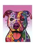 Cherish the Pitbull Giclee Print by Dean Russo