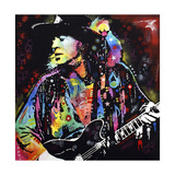 Stevie Ray Vaughan Reproduction procédé giclée par Dean Russo