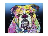 The Bulldog Giclee-trykk av Dean Russo