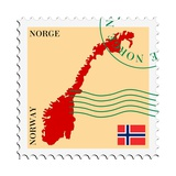 Mail To-From Norway Premium Giclee Print by  Perysty