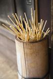 Japan Takayama Skewers for Japanese Dumplings (Dango) in Wooden Bucket Posters by  Nosnibor137