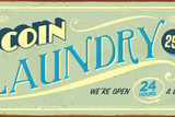 Vintage Tin Sign - Coin Laundry - Raster Version Photographic Print by Real Callahan
