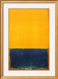 Yellow and Blue Poster by Mark Rothko