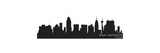 San Antonio, Texas Skyline. Detailed Vector Silhouette Print by  Yurkaimmortal