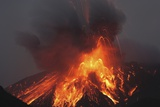 Molten Lava Erupts from Sakurajima Kagoshima Japan Photographic Print by  Nosnibor137