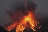 Molten Lava Erupts from Sakurajima Kagoshima Japan Print by  Nosnibor137