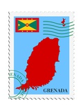 Mail To-From Grenada Prints by  Perysty