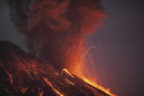 Molten Lava Erupting from Sakurajima Kagoshima Japan Posters by  Nosnibor137