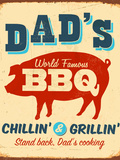 Vintage Metal Sign - Dad's BBQ - JPG Version Photographic Print by Real Callahan