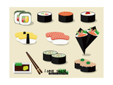 I Love Sushi ! Poster by Phoebe Yu