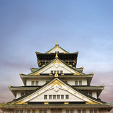Osaka Castle, One of the Famous Castle in Japan, Asia. Photographic Print by  elwynn