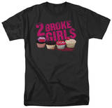 2 Broke Girls - Cupcakes T-shirts