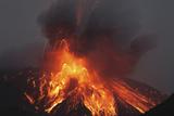 Molten Lava Erupts from Sakurajima Kagoshima Japan Posters by  Nosnibor137