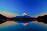 Inverted Image of Mount Fuji at Sunrise Photographic Print by  shihina
