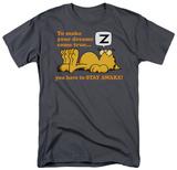 Garfield - Stay Awake T-shirts