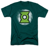Green Lantern - Destroyed Green Lantern Logo Shirt