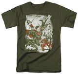 Justice League - Green And Red T-shirts