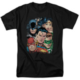 Justice League - Up Close And Personal Shirts