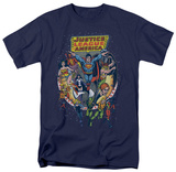 Justice League - Star Group T-Shirt