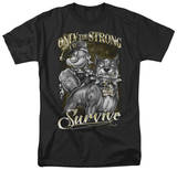 Popeye - Only The Strong T-shirts