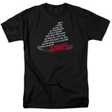 Jaws - Dorsal Text T-Shirt