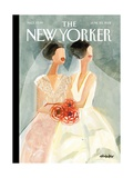The New Yorker Cover - June 25, 2012 Stretched Canvas Print by Gayle Kabaker