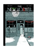 The New Yorker Cover - December 9, 2013 Stretched Canvas Print by Istvan Banyai